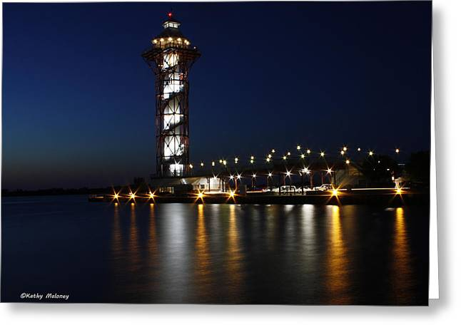 Lights On The Bay Greeting Card