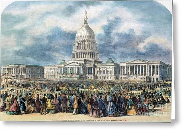 Lincoln Inauguration, 1865 Greeting Card