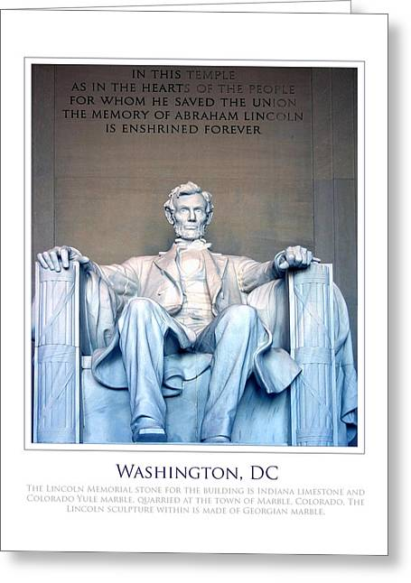 Lincoln Memorial Greeting Card by Jim McDonald Photography