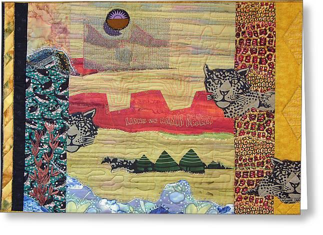 Lions Of Namib Desert Greeting Card
