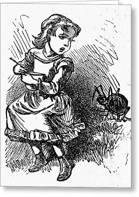 Little Miss Muffet Greeting Card by Granger