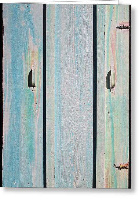 Little Pump House Door Greeting Card by Asha Carolyn Young