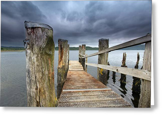 Loch Etive Jetty Greeting Card