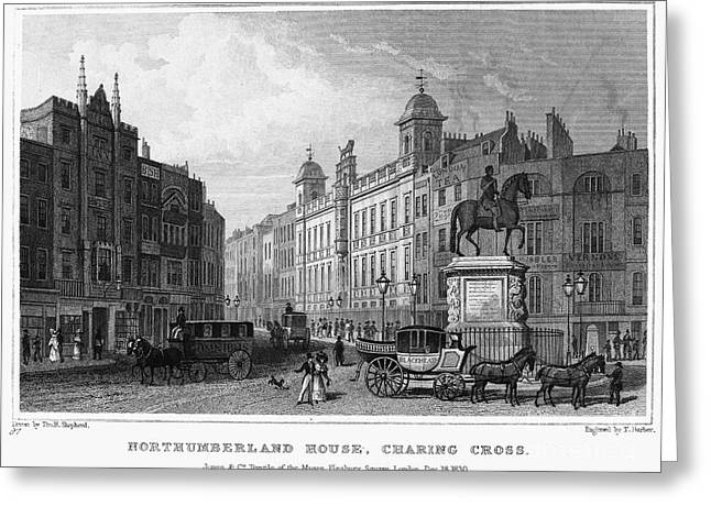 London: Charing Cross, 1830 Greeting Card by Granger