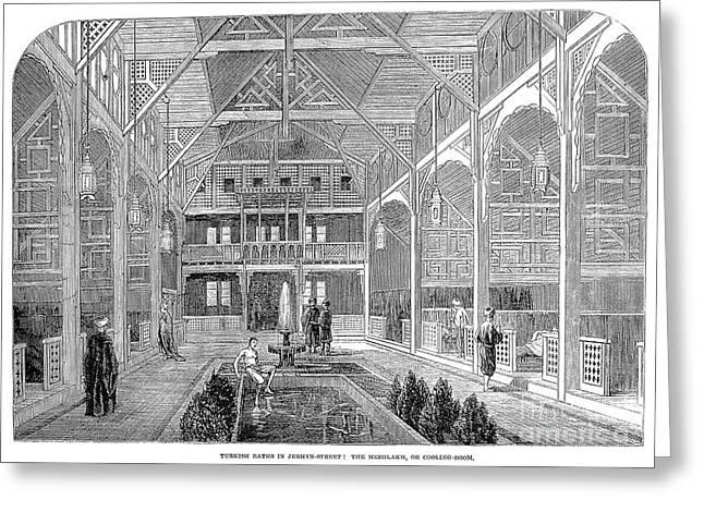 London: Turkish Bath, 1862 Greeting Card