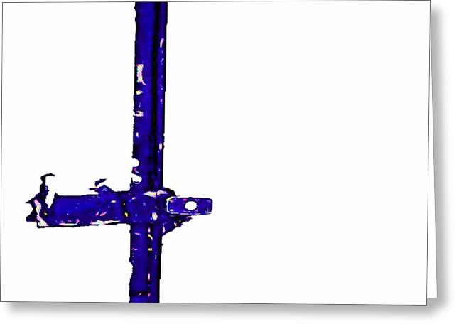 Long Lock In Blue Greeting Card by J erik Leiff