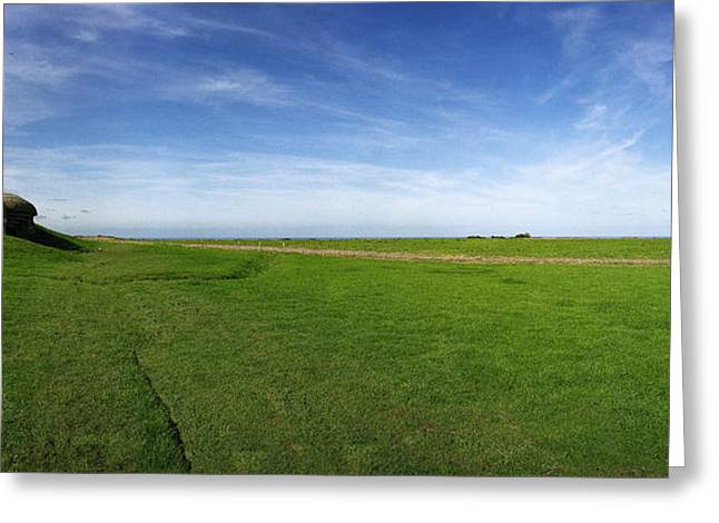 Longues Battery Greeting Card by Jan W Faul