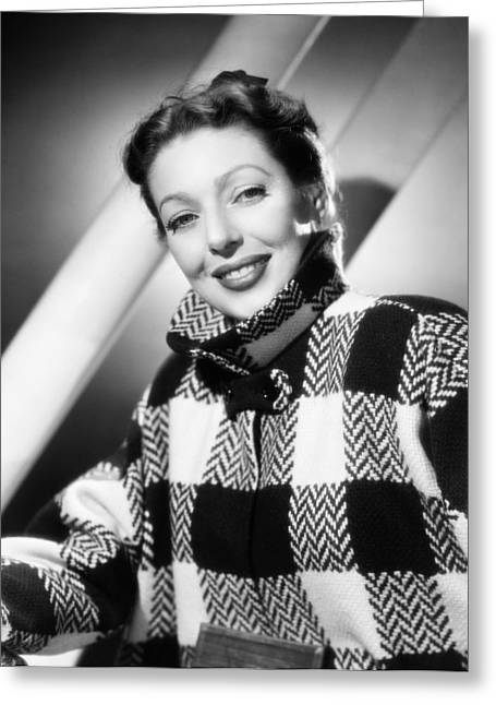 Loretta Young (1913-2000) Greeting Card by Granger