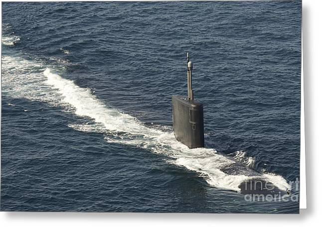 Los Angeles-class Attack Submarine Uss Greeting Card by Stocktrek Images