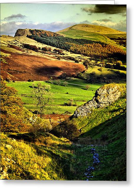 Lose Hill And Great Ridge Greeting Card by Darren Burroughs