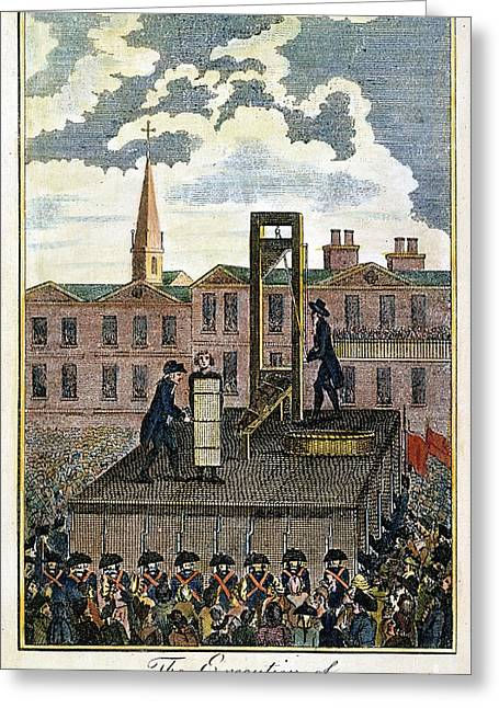 Louis Xvi: Execution Greeting Card by Granger