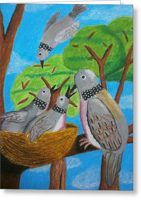 Love And Dove Greeting Card