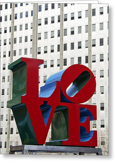 Love Park - Center City - Philadelphia Greeting Card by Brendan Reals