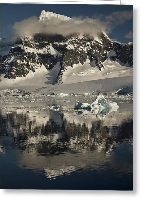 Luigi Peak Wiencke Island Antarctic Greeting Card by Colin Monteath