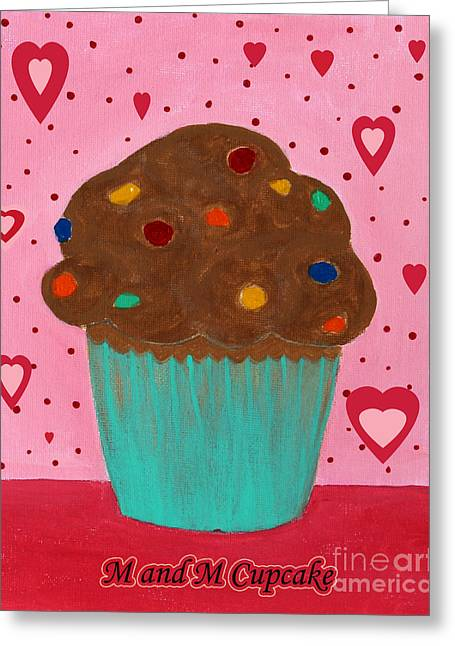 M And M Cupcake Greeting Card by Barbara Griffin