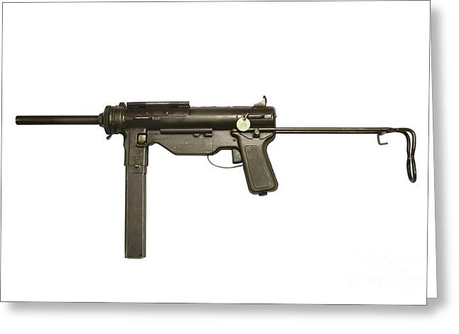 M3a1 Submachine Gun, 45 Caliber Greeting Card