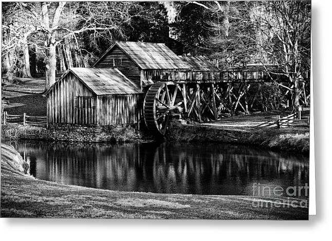 Greeting Card featuring the photograph Mabry Mill by Carrie Cranwill