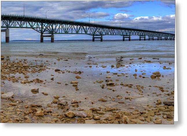 Mackinac Bridge Greeting Card by Twenty Two North Photography