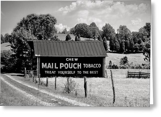 Greeting Card featuring the photograph Mail Pouch Barn by Mary Almond