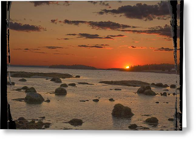 Maine Sunset Greeting Card by Jim Wright