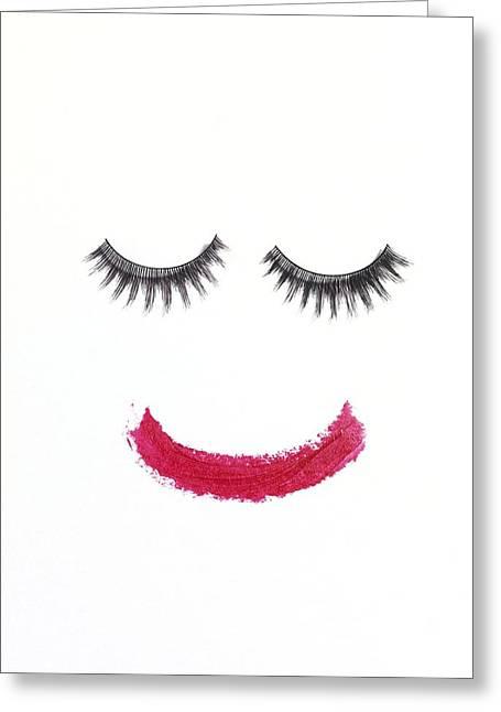 Make Up Greeting Card by Tek Image