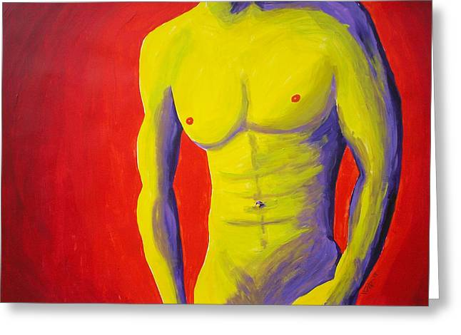 Male Nude Frontal Greeting Card