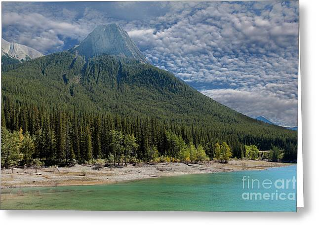Maligne Lake Jasper Alberta Greeting Card