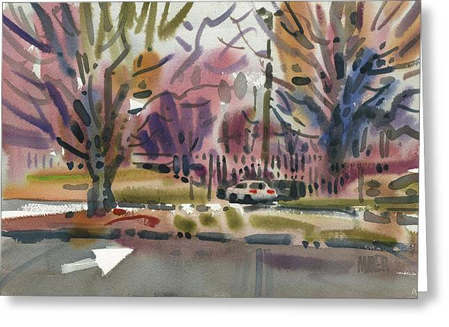 Mall Entrance Greeting Card by Donald Maier