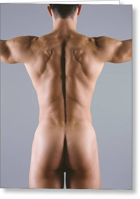 Man's Body Greeting Card by Cristina Pedrazzini