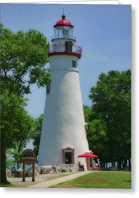 Greeting Card featuring the photograph Marble Head Lighthouse by Joan Bertucci