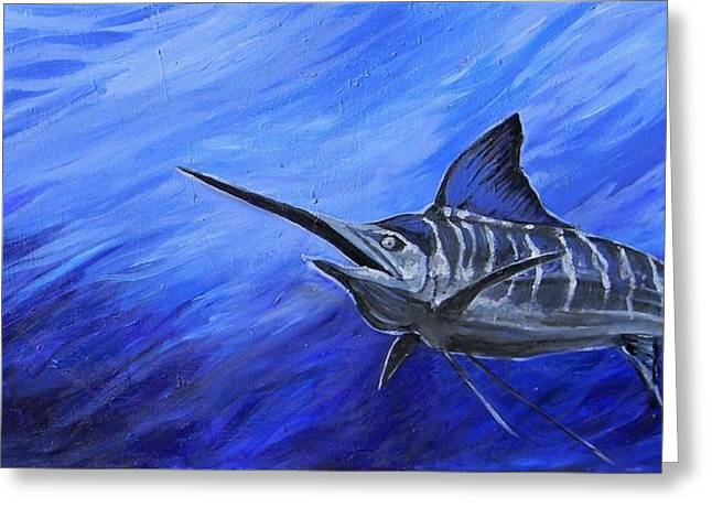 Marlin Greeting Card