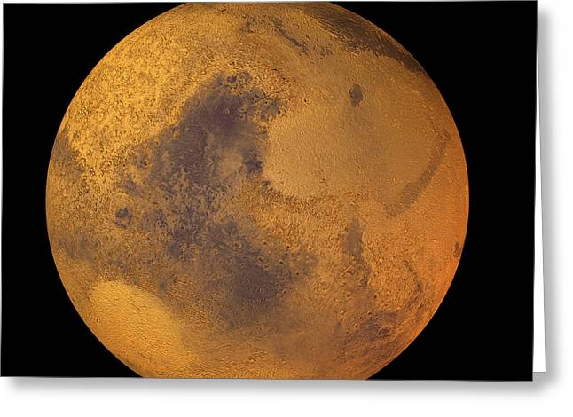 Mars Greeting Card by Friedrich Saurer