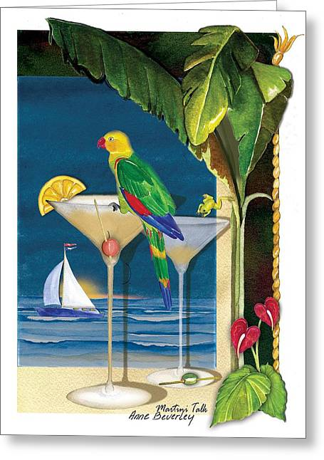 Martini Talk Greeting Card