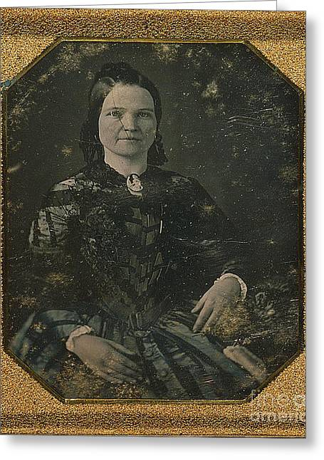 Mary Todd Lincoln, First Lady Greeting Card by Photo Researchers