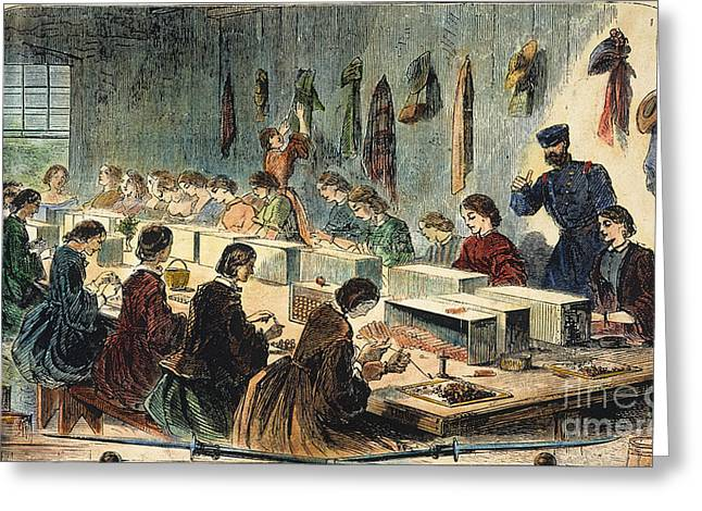 Mass.: U.s. Arsenal, 1861 Greeting Card by Granger