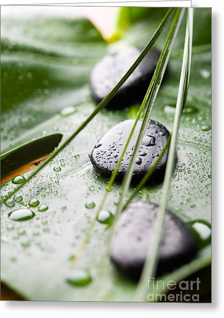 Massage Stones Greeting Card