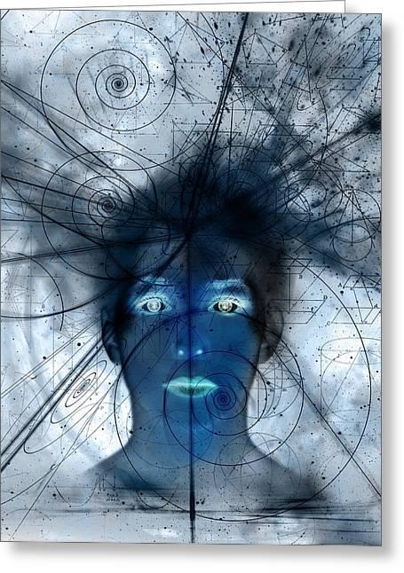 Mathematical Universe, Conceptual Artwork Greeting Card
