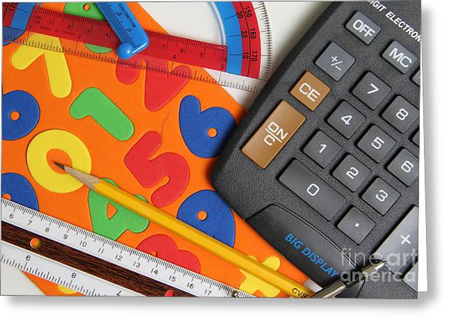Mathematics Tools Greeting Card by Photo Researchers Inc