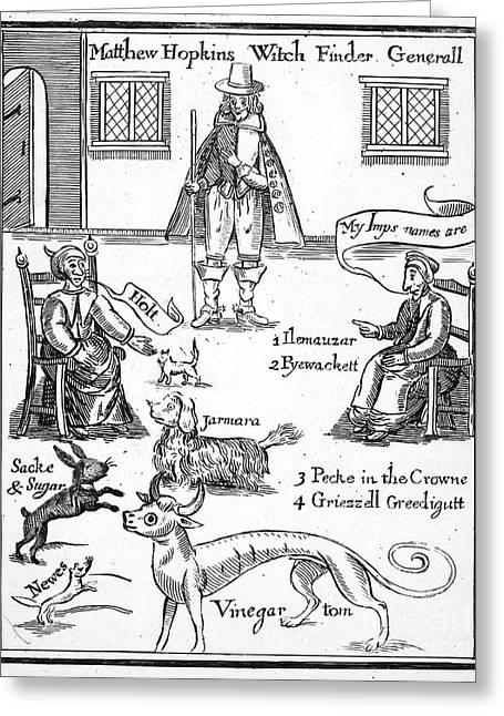 Matthew Hopkins (d. 1647) Greeting Card by Granger
