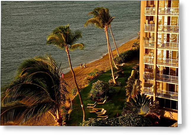 Greeting Card featuring the photograph Maui Sunset by Kirsten Giving