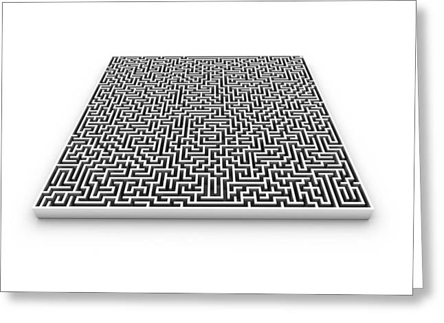 Maze, Computer Artwork Greeting Card by Pasieka