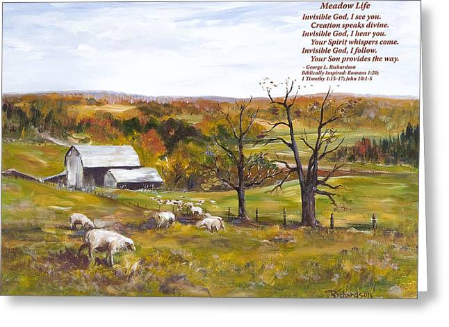 Meadow Life With Poem Greeting Card