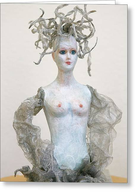 Medusa Greeting Card by Ruth Edward Anderson