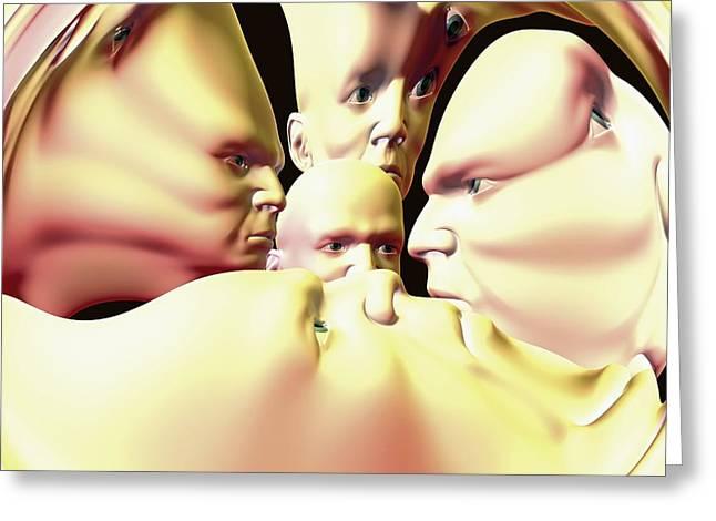 Mental Illness, Conceptual Artwork Greeting Card by David Mack