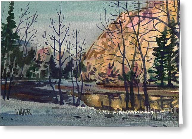 Merced River In Winter Greeting Card