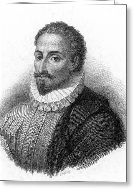 Miguel De Cervantes, Spanish Author Greeting Card by Photo Researchers