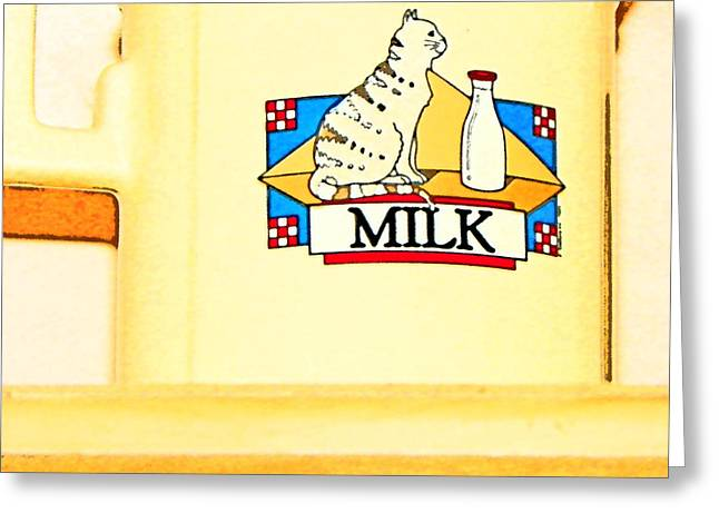 Milk Greeting Card by Lenore Senior