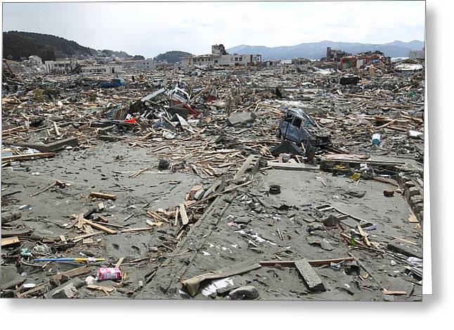 Minami Sanriku After The 2011 Earthquake Greeting Card by Ria Novosti