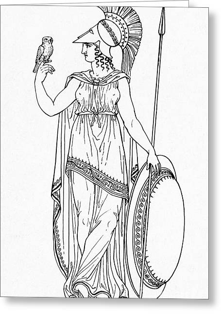 Minerva, Roman Goddess Of Medicine Greeting Card by Photo Researchers