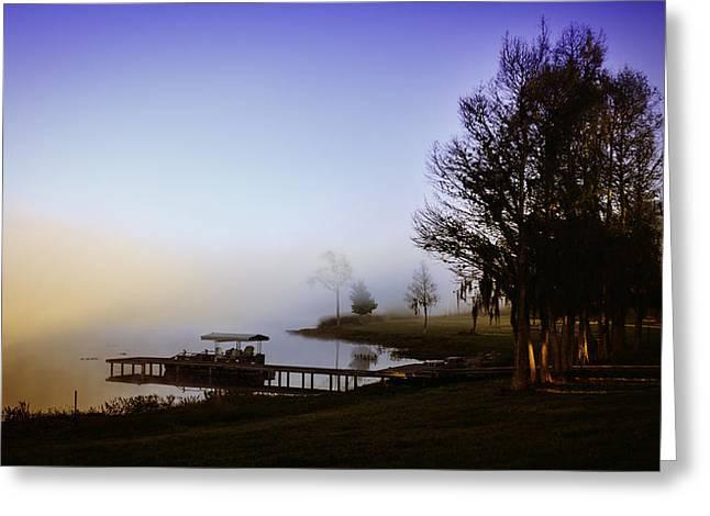 Misty Morning On Lake Jaunita Greeting Card